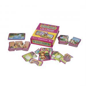 Flash Cards HAYVANLAR 2 ve 3 Parçalı Tamamlama Kartları 18+
