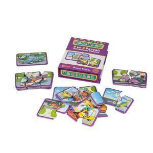 Flash Cards Taşıtlar 2 ve 3 Parçalı Tamamlama Kartları 18+