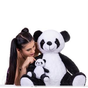 Halley 60 Cm Yumuşacık Yavrulu Panda Peluş Oyuncak