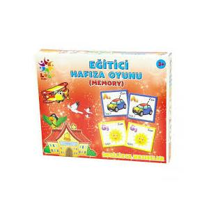 İngilizce Nesneler Eğitici Hafıza Oyunu (Memory) 48 Parça