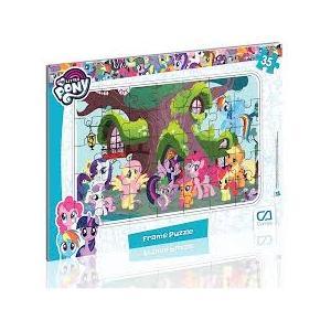 3 adet birden My Little Pony 35 Parça Frame Puzzle