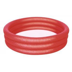 Bestway 51024 Üç Halkalı Kırmızı Renkli Şişme Havuz 102 x 25 Cm