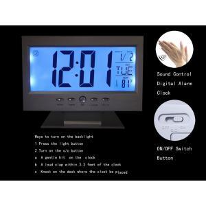 Kadıo KD-1819 Quartz Clock Dijital Masaüstü Ses Kontrollü Saat
