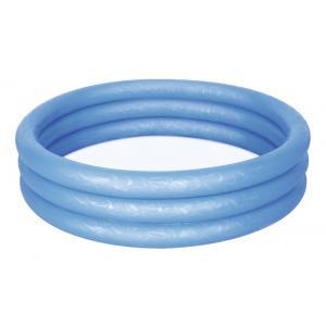 Bestway 51024 Üç Halkalı Mavi Renkli Şişme Havuz 102 x 25 Cm
