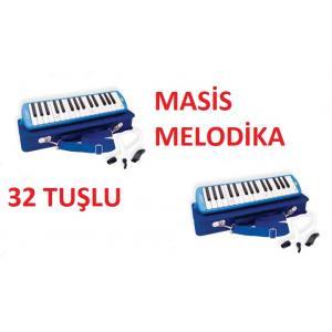 Masis 32 Tuşlu Özel Çantalı Üflemeli Melodika Mavi Renk