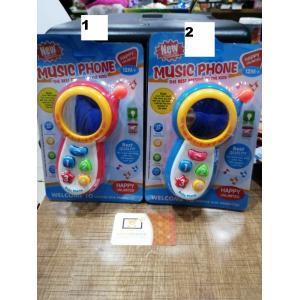 Sesli Işıklı Ekrana Yansıtan Eğitici Telefon 16 Cm