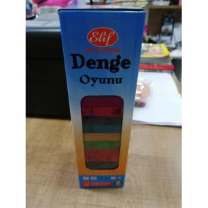 Renkli Tahtalı 54 Parça Denge Oyunu