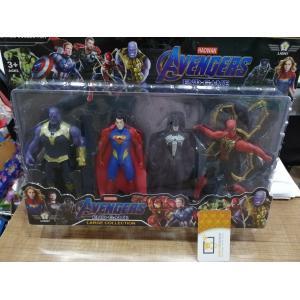 4 lü Avengers Benzeri Supermanlı Figür 14 cm