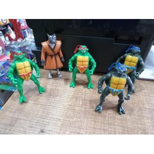 5 Li Ninja Kaplumbağa Figürler 10 Cm Benzeri Ürün