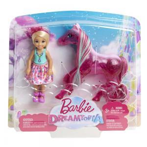 ORİJİNAL Barbie Dreamtopia Chelsea ve Tek Boynuzlu Atı FPL82