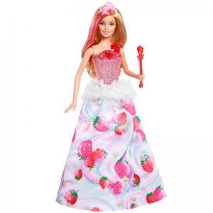ORİJİNAL Barbie Dreamtopia Çilek Prensesi Sesli Işıklı Barbie Beb