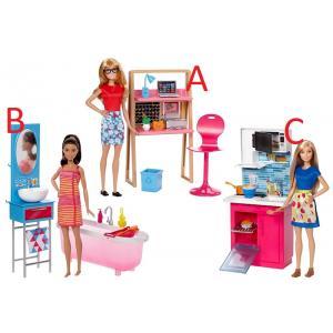 ORİJİNAL LİSANSLI ÜRÜN Barbie Bebek Ve Oda Setleri Serisi DVX51