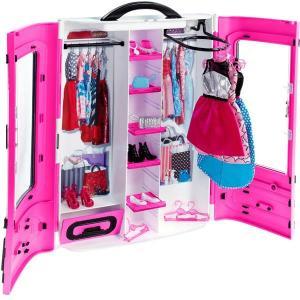 ORİJİNAL MATTEL Barbie Pembe Gardrop DMT57