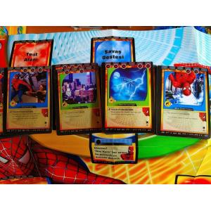 Spider Man Oyun Kartı 55 Adet Örümcek Adam Oyun Kartı Metal Kutu