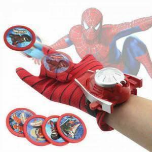 Spiderman Örümcek Adam Disk Atan Eldiven + 4 Adet Disk