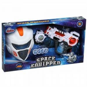 Işıklı Sesli Maskeli 3Lu Uzay Savaşçı Seti