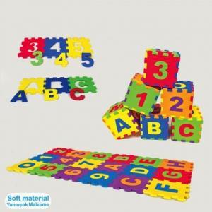 Eva Puzzle 12 x 12 cm x 7 mm Harfler Ve Sayılar