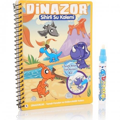 Sihirli Boyama Kitabi Ozel Kalemi Water Magic Boyama Dinazor