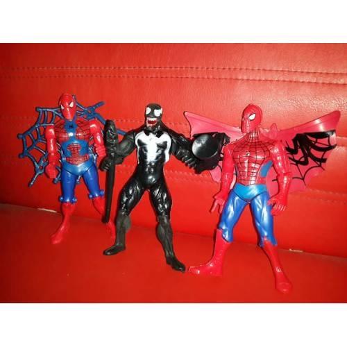 5 Li Isikli Spider Man Orumcek Adam Figur Seti Yapi Oyuncaklari